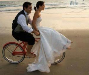 Imádlak! De a bicikli az enyém, drágám!