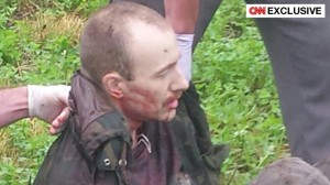 David Sweat közvetlenül az elfogása után (fotó: CNN)
